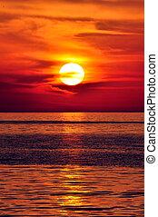 greece., крит, sunset.