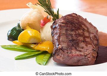 grilled, говядина, steaks