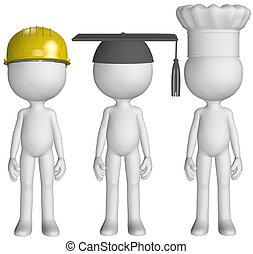 hats, выпускник, шеф-повар, работа, строительство, студент, готовить, занятие