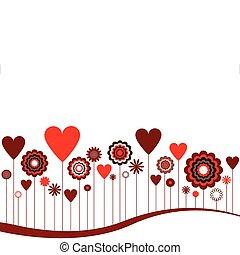 hearts, абстрактные, цветы