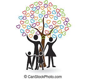 hearts, дерево, семья, логотип