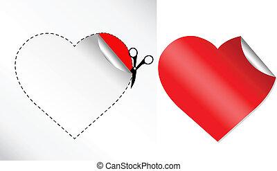 hearts, наклейка, форма