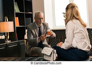 his, пациент, сидящий, психотерапевт, женский пол, фронт