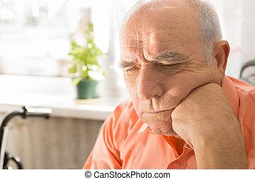 his, плешивый, лицо, кулак, серьезный, старшая, человек