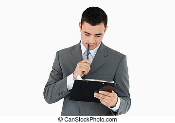 his, notes, чтение, буфер обмена, бизнесмен