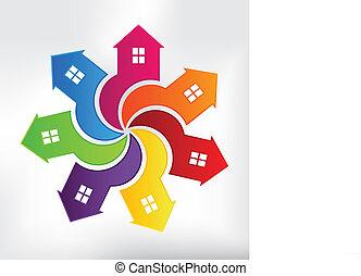 houses, современное, логотип