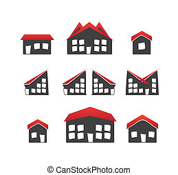 houses, 6, задавать, variations, icons