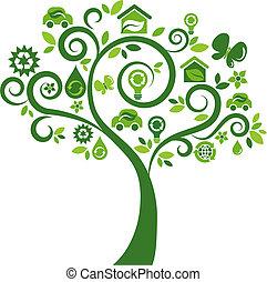 icons, дерево, 2, -, экологический