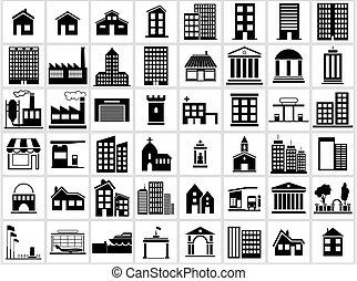 icons, задавать, здание