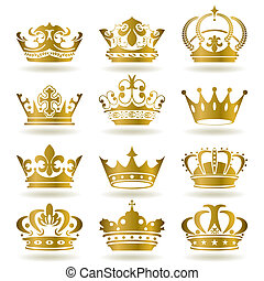 icons, задавать, золото, корона