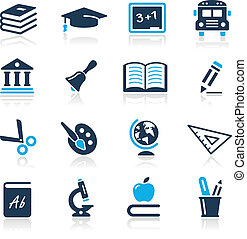 icons, лазурь, серии, //, образование