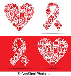 icons, сердце, делать, спид, медицинская