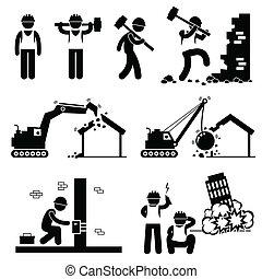 icons, сносить, снос, здание