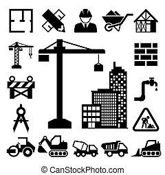 icons, строительство, задавать