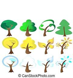 icons, seasons, 4, дерево