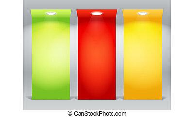illuminated, красочный, доски