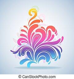 illustration., красочный, всплеск, абстрактные, элемент, вектор, дизайн