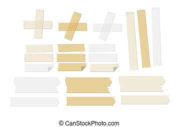 illustrations, вектор, лента, masking