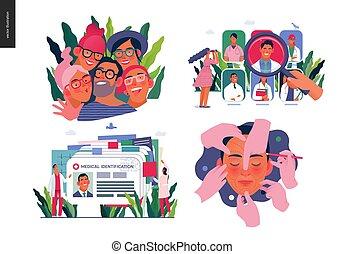 illustrations, медицинская, задавать, страхование