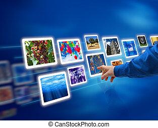 images, течь, выбрать, рука