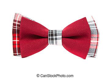 isolated, лук, хипстер, черный, задний план, галстук, белый, красный