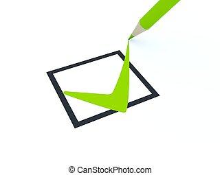 isolated, символ, белый, проверить