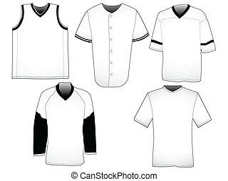 jerseys, templates, спорт