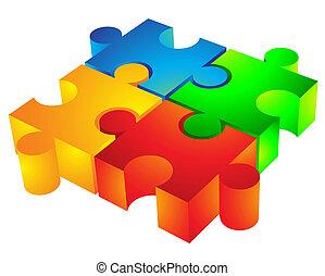 jigsaw:, 3d, значок