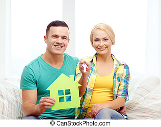 keys, дом, пара, зеленый, главная, новый