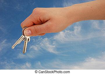 keys, рука
