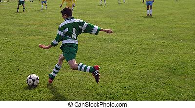 kicking, мяч