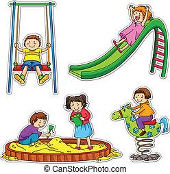 kids, playing