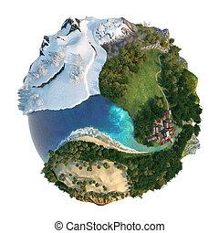 landscapes, земной шар, разнообразие