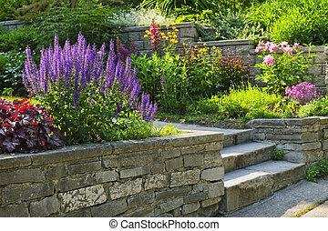 landscaping, камень, сад