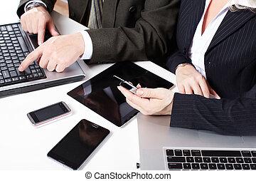 laptop., группа, за работой, бизнес, люди
