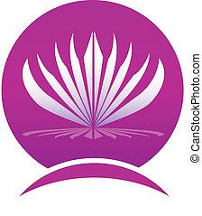 leafs, логотип, рамка, лотос, компания