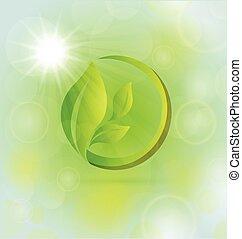 leafs, природа, концепция, здоровье