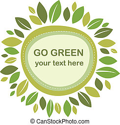 leaves, зеленый, рамка