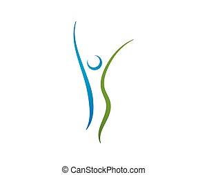 logo., здоровье, логотип, sign., забота, природа