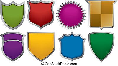 logos, 8, badges
