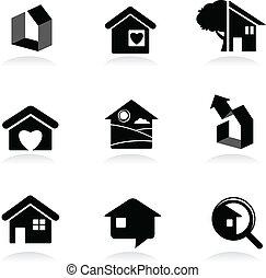 logos, real-estate, icons