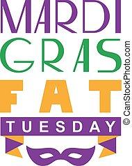 mardi, буквенное обозначение, текст, вторник, gras, приветствие, жир, карта