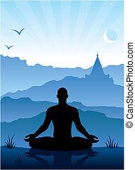 mountains, медитация