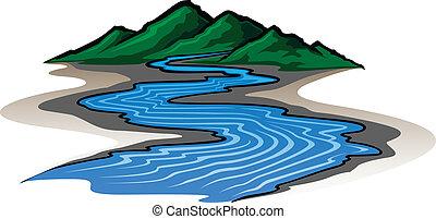 mountains, река