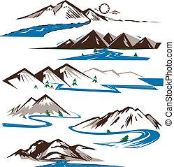 mountains, реки