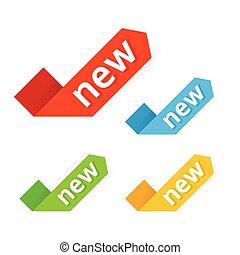 new., vector., знак