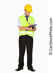 notes, куртка, буфер обмена, безопасность, принятие, мастер, молодой