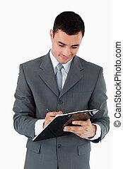 notes, принятие, буфер обмена, бизнесмен
