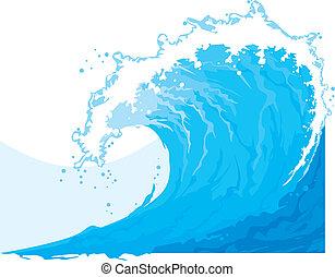 (ocean, wave), море, волна