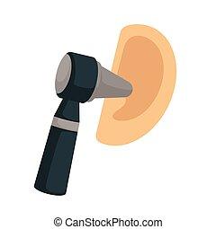 otoscope, ушная боль, инструмент, otorhinolaryngology, лечение, ухо, проверить